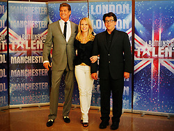 © under license to London News Pictures. 13/04/11 Britain's Got Talent series launch with judging panel David Hasselhoff, Amanda Holden and Michael MacIntyre at the Mayfair Hotel, London.. Photo credit should read: Olivia Harris/ London News Pictures