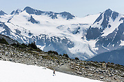 See Overlord Glacier and Mountain from Overlord Trail on Blackcomb Mountain, in Garibaldi Provincial Park, the Coast Range, British Columbia, Canada. The Resort Municipality of Whistler is popular for year-round  outdoor sports aided by gondolas and chair lifts. Global warming/climate change: As of 2005, Overlord Glacier had retreated 880 meters from its terminus of year 1929. From the early 1700s to 2005, half (51%) of the glacial ice cover of Garibaldi Provincial Park melted away (Koch et al. 2008, web.unbc.ca). The record of 1900s glacier fluctuations in Garibaldi Park is similar to that in southern Europe, South America, and New Zealand, suggesting a common, global climatic cause.