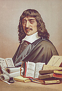 René Descartes (31 March 1596 – 11 February 1650) was a French philosopher, mathematician, and scientist. From the book La ciencia y sus hombres : vidas de los sabios ilustres desde la antigüedad hasta el siglo XIX T. 2  [Science and its men: lives of the illustrious sages from antiquity to the 19th century Vol 2] By by Figuier, Louis, (1819-1894); Casabó y Pagés, Pelegrín, n. 1831 Published in Barcelona by D. Jaime Seix, editor , 1879 (Imprenta de Baseda y Giró)