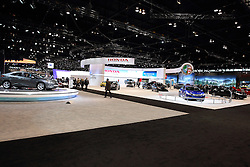 11 February 2016: <br /> <br /> First staged in 1901, the Chicago Auto Show is the largest auto show in North America and has been held more times than any other auto exposition on the continent.  It has been  presented by the Chicago Automobile Trade Association (CATA) since 1935.  It is held at McCormick Place, Chicago Illinois<br /> #CAS16