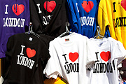 Stall selling I Love London t-shirts.