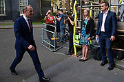 Dominc Raab leaving Downing Street after being appointed by  Prime Minister Boris Johnson to Foreign Secretary  on 24th July, 2019, in London, United Kingdom.