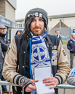 A Millwall fan waiting for a player autograph before the fourth round FA Cup match against Watford at The Den, London<br /> Picture by Richard Brooks/Focus Images Ltd 07947656233<br /> 29/01/2017