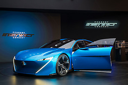 Peugeot Instinct hybrid autonomous vehicle at 87th Geneva International Motor Show in Geneva Switzerland 2017