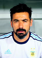 Conmebol - World Cup Fifa Russia 2018 Qualifier / <br /> Argentina National Team - Preview Set - <br /> Ezequiel Ivan Lavezzi