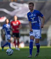 Magnus Westergaard (Lyngby Boldklub) under kampen i 3F Superligaen mellem Lyngby Boldklub og FC København den 1. juni 2020 på Lyngby Stadion (Foto: Claus Birch).