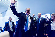 Donald J. Trump President of the United States of America Office of the President of the<br /> United States<br /> USA arrives at the Annual Meeting 2018 of the World Economic Forum in Davos, January 25, 2018.<br /> Copyright by World Economic Forum / Greg Beadle Portraits captured by Greg Beadle in studio and on location