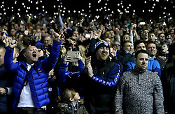 Sheffield Wednesday fans support their side by lighting the stands with their phones - Mandatory by-line: Robbie Stephenson/JMP - 13/05/2016 - FOOTBALL - Hillsborough - Sheffield, England - Sheffield Wednesday v Brighton and Hove Albion - Sky Bet Championship Play-off Semi Final first leg