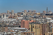 An overview from a skyscraper shows the Armenian northern part of the capital city Yerevan on Thursday, Jan 21, 2021. From the 6th century BCE, Yerevan formed part of the Armenian kingdom. The literature says that in 1920 Yerevan became the capital of the independent Armenian republic. It remained the capital during the periods of Soviet rule and of renewed independence. (Photo/ Vudi Xhymshiti)