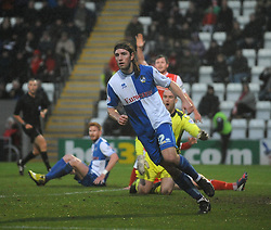 Bristol Rovers' John-Joe OToole celebrates his goal. - Photo mandatory by-line: Dougie Allward/JMP - Tel: Mobile: 07966 386802 14/12/2013 - SPORT - Football - Morecombe - Globe Arena - Morecombe v Bristol Rovers - Sky Bet League Two