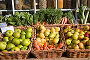 Fresh fruit and vegetables on display