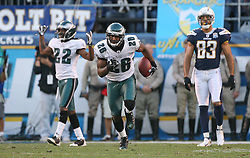 SAN DIEGO, CA - NOVEMBER 15: Sean Jones of the Philadelphia Eagles during a game against the San Diego Chargers on November 14, 2009 at Qualcomm Stadium in San Diego, California. The Chargers won 31-23. (Photo by Hunter Martin)