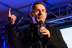 London, UK. 15th January, 2019. Paul Mason, journalist, film-maker and author, addresses pro-EU activists attending a People's Vote rally in Parliament Square as MPs vote in the House of Commons on Prime Minister Theresa May's proposed final Brexit withdrawal agreement.