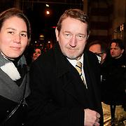 NLD/Amsterdam/20130315 - Boekenbal 2013 Stadsschouwburg , Jean Pierre Rawie  en partner ?..