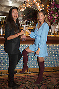 LEILA BARTELL; LAURA PRADELSKA, spotted at Bloom & Wild's exclusive event at 5 Hertford Street last night. 5 September 2017. The event was announcing the new partnership between the UK's most loved florist, Bloom & Wild and British floral design icon Nikki Tibbles Wild at Heart. Cocooned in swaths of vibrant Autumn blooms, guests enjoyed floral-inspired cocktails from Sipsmith and bubbles from Chandon, with canapés put on by 5 Hertford Street. Three limited edition bouquets from the partnership can be bought through Bloom & Wild's website from the 1st September.  bloomandwild.com/WAH