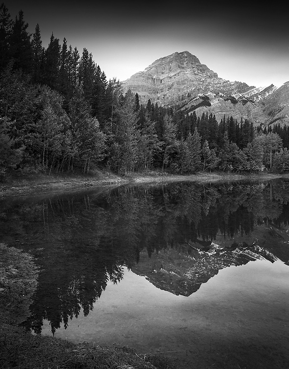 Mount Kidd Reflects in Wedge Pond