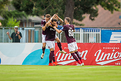 Luka Majcen of NK Triglav Kranj celebrate during Football match between NK Triglav Kranj and NK Rudar Velenje in Round #3 of Prva liga Telekom Slovenije 2019/20, on July 27, 2019 in Sports park Kranj, Kranj, Slovenia. Photo by Ziga Zupan / Sportida