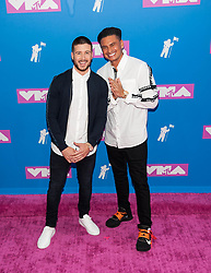 August 21, 2018 - New York City, New York, USA - 8/20/18.Vinny Guadagnino and DJ Pauly D at the 2018 MTV Video Music Awards at Radio City Music Hall in New York City. (Credit Image: © Starmax/Newscom via ZUMA Press)