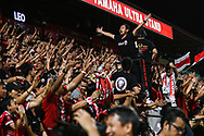 NONTHABURI, THAILAND - JULY 09: Fans reaction during the second half of the Thai League: SCG Muangthong United vs Buriram United at SCG Stadium, Nonthaburi, Thailand on July 09, 2017.<br /> .<br /> .<br /> .<br /> (Photo by: Naratip Golf Srisupab/SEALs Sports Images)<br /> .<br /> Any image use must include a mandatory credit line adjacent to the content which should read: Naratip Golf Srisupab/SEALs Sports Images