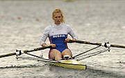 Munich, GERMANY, 2006, FISA, Rowing, World Cup, RUS W1X Irina  Fedotova,  on the Olympic Regatta Course, Munich, Fri. 26.05.2006. © Peter Spurrier/Intersport-images.com,  / Mobile +44 [0] 7973 819 551 / email images@intersport-images.com.[Mandatory Credit, Peter Spurier/ Intersport Images] Rowing Course, Olympic Regatta Rowing Course, Munich, GERMANY