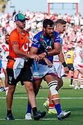 Peta Hiku leaves the field injured. St George Dragons v Vodafone Warriors. NRL Rugby League, Netstrata Jubilee Stadium, Sydney, NSW, Australia, Sunday 18th April 2021 Copyright Photo: David Neilson / www.photosport.nz