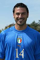 Coverciano 27/5/2004 Ritiro della nazionale italiana in vista degli Europei 2004 in Portogallo. <br />Stefano Fiore, Italy, Midfielder.<br />Foto Andrea Staccioli Graffiti