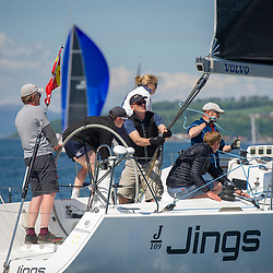 Day 3 Scottish Series, SAILING, Scotland.<br /> <br /> Jings, J109, 8543R, CCC <br /> <br /> The Scottish Series, hosted by the Clyde Cruising Club is an annual series of races for sailing yachts held each spring. Normally held in Loch Fyne the event moved to three Clyde locations due to current restrictions. <br /> <br /> Light winds did not deter the racing taking place at East Patch, Inverkip and off Largs over the bank holiday weekend 28-30 May. <br /> <br /> Image Credit : Marc Turner / CCC