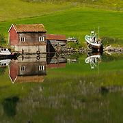 Cruise from Flåm to Gudvangen, Aurlandsfjorden and Nærøyfjord (UNESCO World heritage Site),  branches of Sognefjorden, Sogn og Fjordane, Fjords, Norway, Europe