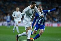 Real Madrid´s Cristiano Ronaldo and Deportivo de la Coruna´s Alex during 2015/16 La Liga match between Real Madrid and Deportivo de la Coruna at Santiago Bernabeu stadium in Madrid, Spain. January 09, 2015. (ALTERPHOTOS/Victor Blanco)