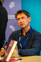 Pictured: Conor Woodman, author of Shark$<br /> Book fanatics headed to Charlotte Square in Edinburgh which is the hub of the international Book Festival to meet the authors and also to meet up with fellow fans of the printed word.<br /> <br /> <br /> Ger Harley | EEm 14 August 2017