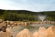 Alaska. Chena Hot Springs and Resort with natural rock pool and indoor pool as well. The entire establishment is environmentally heated and powered.