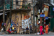 """""""Bamboo Street"""" in the Old Quarter of Hanoi, where each street specialises in a certain trade."""