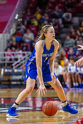 NORMAL, IL - December 20:  Chloe Rice during a college women's basketball game between the ISU Redbirds and the St. Louis Billikens on December 20 2018 at Redbird Arena in Normal, IL. (Photo by Alan Look)