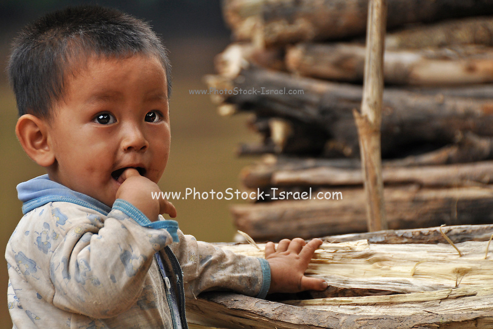 Portrait of a young boy in Laos