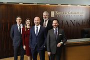 SHOT 1/8/19 12:11:55 PM - Bachus & Schanker LLC lawyers James Olsen, Maaren Johnson, J. Kyle Bachus, Darin Schanker and Andrew Quisenberry in their downtown Denver, Co. offices. The law firm specializes in car accidents, personal injury cases, consumer rights, class action suits and much more. (Photo by Marc Piscotty / © 2018)