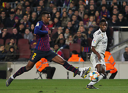 February 6, 2019 - Barcelona, BARCELONA, Spain - Vinicius Jr. of Real Madrid in action during Spanish King championship, football match between Barcelona and Real Madrid, February 06th, in Camp Nou Stadium in Barcelona, Spain. (Credit Image: © AFP7 via ZUMA Wire)