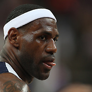 Lebron James, USA, during the Men's Basketball Final between USA and Spain at the North Greenwich Arena during the London 2012 Olympic games. London, UK. 12th August 2012. Photo Tim Clayton