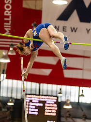 """NSAF 2014 New Balance Nationals Indoor, girls pole vault won by Desiree Freire sets HS National record 14'2 3/4"""""""