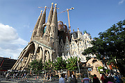 Sagrada Familia Barcelona Spain during final stage of construction