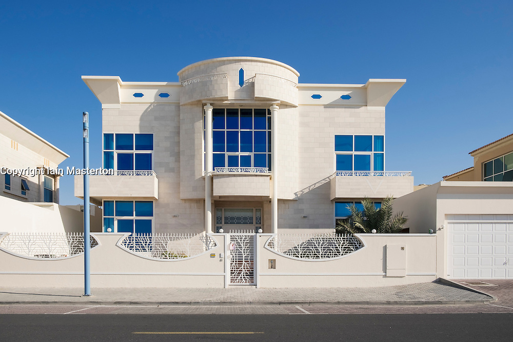 Luxury villa facing onto beach in Dubai United Arab Emirates