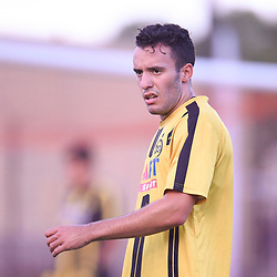 BRISBANE, AUSTRALIA - JANUARY 27: Sam Dickinson of the Jets looks on during the Kappa Silver Boot Third Place match between Moreton Bay United and Brisbane City on January 27, 2018 in Brisbane, Australia. (Photo by Patrick Kearney)