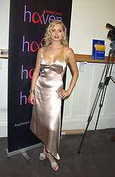 ANOUSKA DE GEORGIOU at a charity event 'In The Pink' a night of music and fashion in aid of the Breast Cancer Haven in association with fashion designer Catherine Walker held at the Cadogan Hall, Sloane Terrace, London on 20th June 2005.<br />