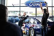January 2013: filming of NASCAR commercials. <br /> <br /> Brad Keselowski