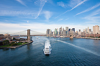 east river view from manhattan bridge - New York City in October 2008