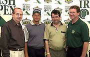 for jenny @ jemma publications..Golfer Retief Goosen, second from left,  at the Murphys Irish Open in Ballybunion with Neil Murphy, The Horse Shoe Bar, Cork City, Jack Kelleher, Tower Bar, Cork City and Michael O' Donnell, Regional Manager, Murphy Brewery..
