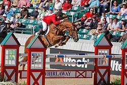 Lejeune Philippe (BEL) and Vigo d'Arsouilles on third spot individually<br /> Alltech FEI World Equestrian Games <br /> Lexington - Kentucky 2010<br /> © Dirk Caremans