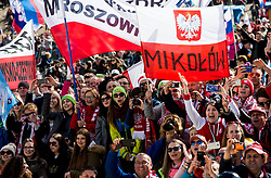 Supporters of Poland during Ski Flying Hill Men's Team Competition at Day 3 of FIS Ski Jumping World Cup Final 2017, on March 25, 2017 in Planica, Slovenia. Photo by Vid Ponikvar / Sportida