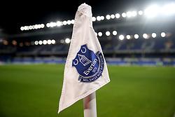 An Everton corner flag during the Premier League match at Goodison Park, Liverpool.