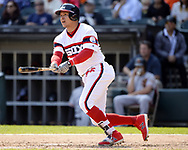 CHICAGO - SEPTEMBER 10:  Avisail Garcia #26 of the Chicago White Sox bats against the San Francisco Giants on September 10, 2017 at Guaranteed Rate Field in Chicago, Illinois.  The White Sox defeated the Giants 8-1.  (Photo by Ron Vesely) Subject:   Avisail Garcia