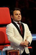 Uitslag Finale The Voice of Holland 2012.<br /> <br /> Op de foto: Roel van Velzen